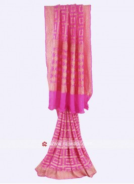 Pink color chiffon saree
