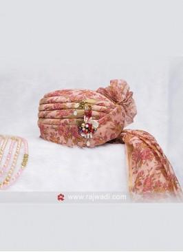 Pink Color Floral Safa
