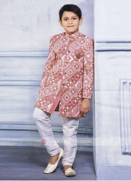 Pink Color Indo Western for Boys