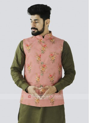 Pink Color Koti For Men
