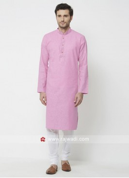 Pink Color Kurta Pajama