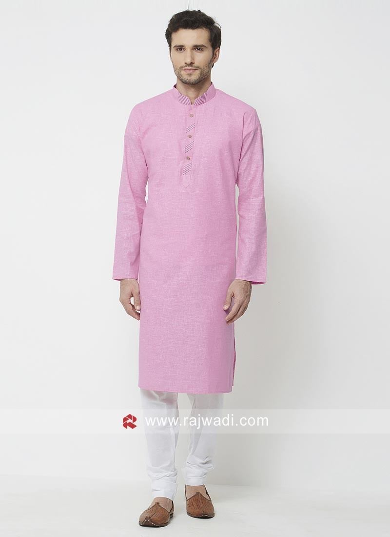 Pink Color Kurta Pajama