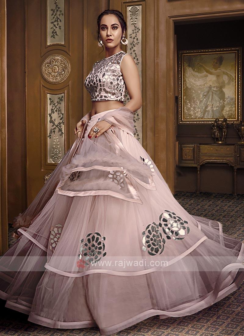 Pink Color Net Lehenga Choli