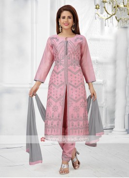 Pink Color Pant Style Suit