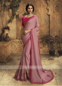 Pink Color Silk Saree