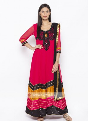 Pink Colour Salwar Suit