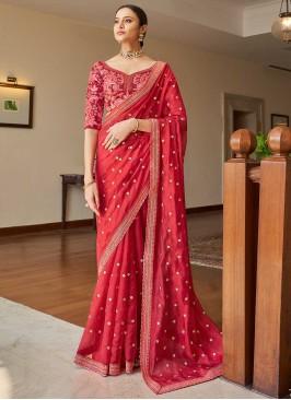 Pink Dori Work Classic Designer Saree