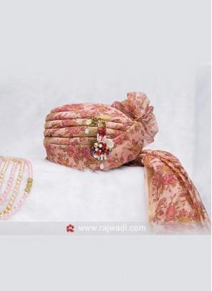 Pink Flower Print Safa