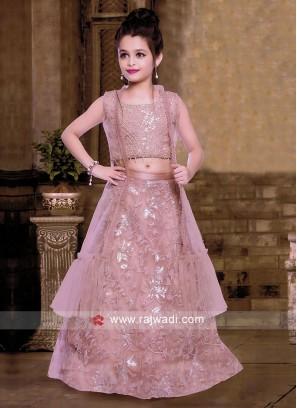 Pink Jacket Style Lehenga Choli