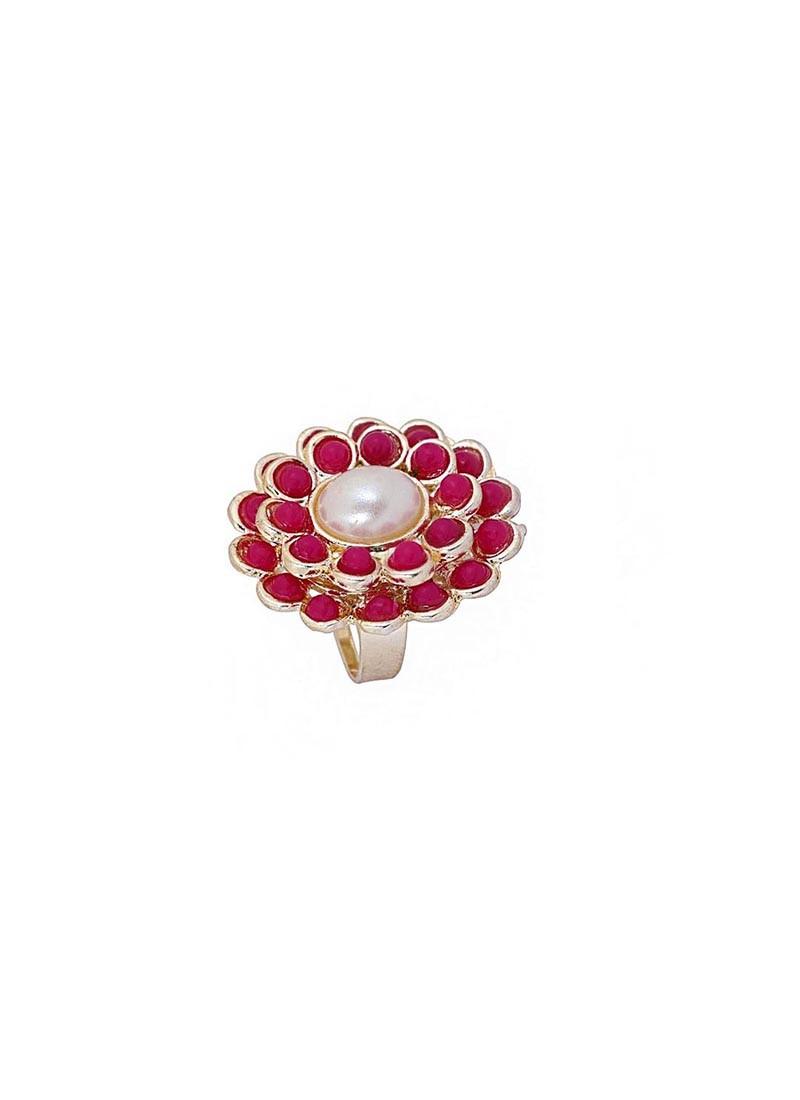 Pink Marigold Modern Ring