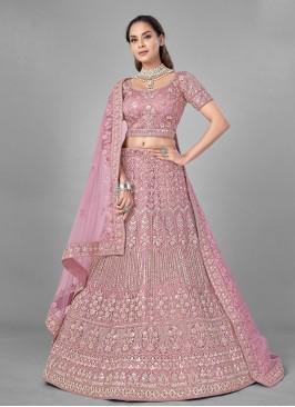 Pink Net Fancy Lehenga Choli