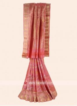 Pink Pure Silk Wedding Saree