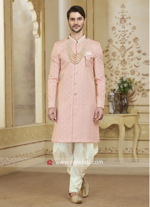 Pink Resham Work Patiala Suit