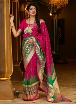 Pink Silk Designer Bollywood Saree