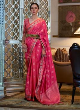 Pink Silk Festival Classic Saree