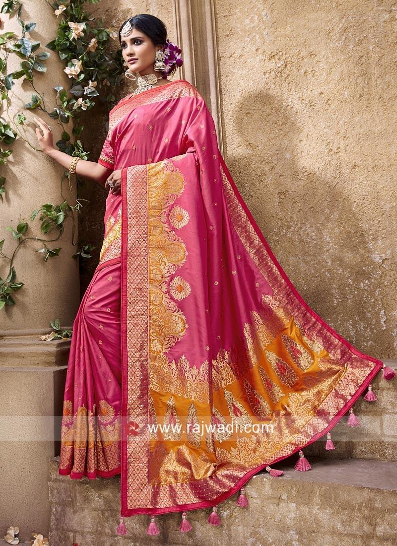 Pink Silk Wedding Saree