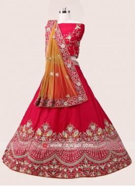Pink Silk Lehenga Choli