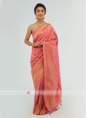 Pink Weaving Saree
