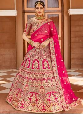 Pink Wedding Designer Lehenga Choli