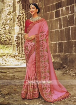 Pink Wedding Heavy Saree