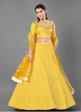 Piquant Yellow Sangeet Lehenga Choli