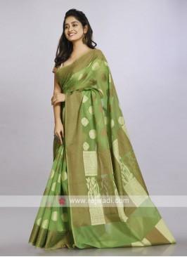 Pista green casual saree