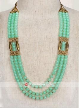 Pista Green Color Pearl Mala For Groom