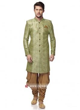 Pista Green Color Patiala Suit