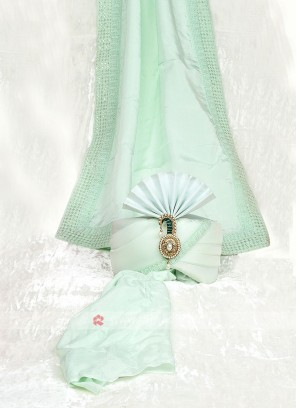 Pista Green Color Turban With Matching Dupatta
