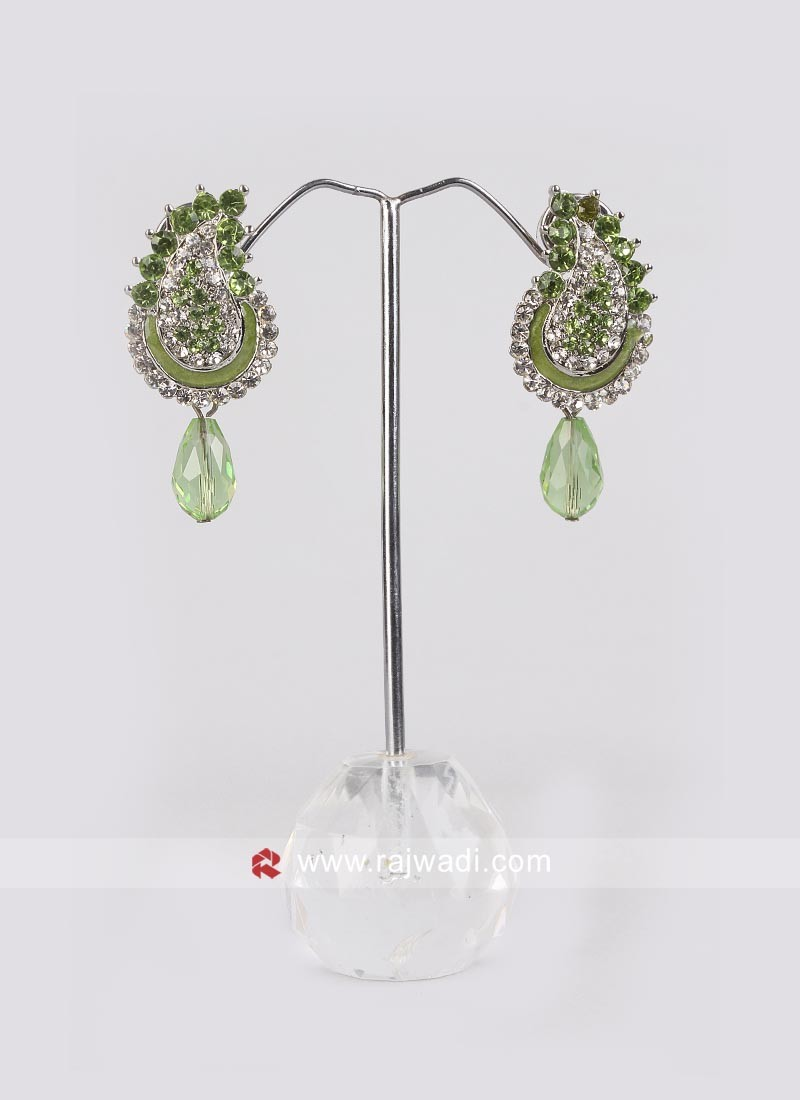 Pista Green Diamond Earrings