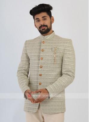 Pista Green Jodhpuri Suit