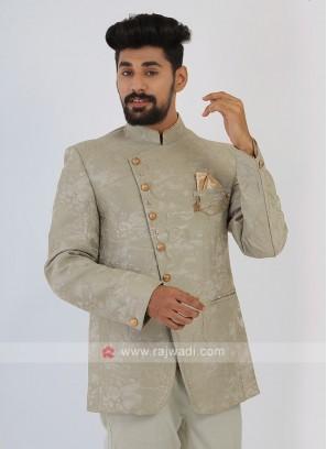 Pista Green Jodhpuri Suit For Mens