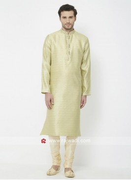 Pista Green Kurta Pajama For Mens