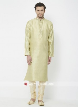 Pista Green Kurta Pajama For Mens