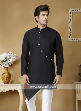 Black Long Sleeve Kurta