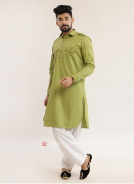 Pista Green Pathani Suit