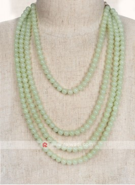 Pista Green Pearl Mala For Wedding