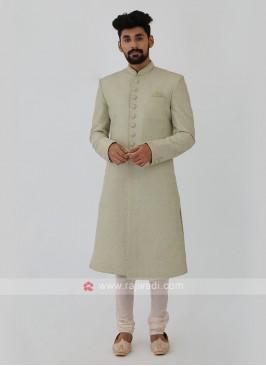 Pista Green Sherwani
