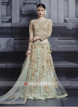 Pista Green Wedding Lehenga