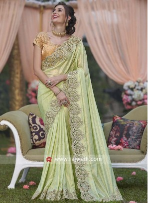 Pista Green Wedding Saree