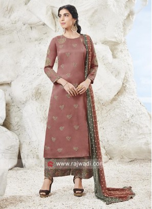 Pita and Zari Work Palazzo Suit