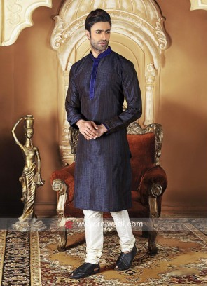 Stylish Dupion Silk Fabric Kurta Pajama
