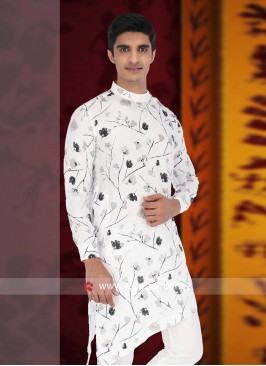 White Round Neck Kurta