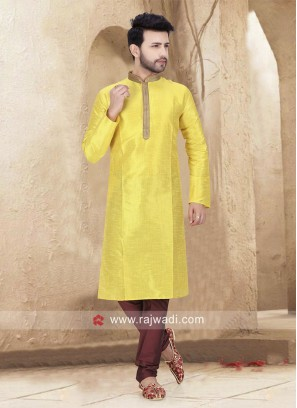 Yellow Kurta Pajama For Sangeet