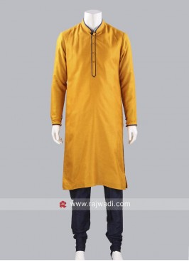 Plain Art Silk Fabric Kurta Pajama