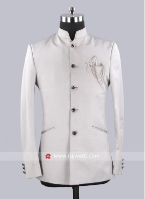 Plain Art Silk Jodhpuri Suit