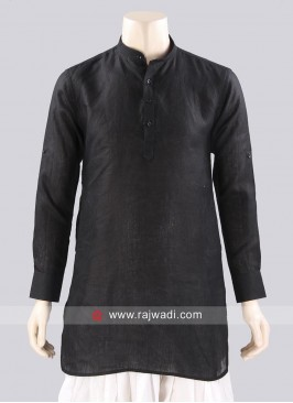 Plain Black Color Kurta