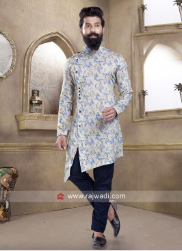 Stylish Long Sleeve Pathani Suit