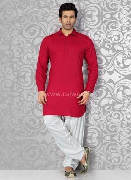 Plain Long Sleeve Pathani Suit