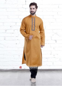 Sandy Brown Color Kurta Pajama